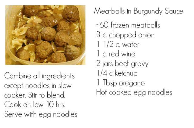 MeatballsBurgundySauce