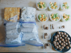snacks treats breakfast burritos shredded chicken