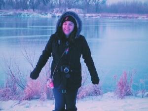 winter morning at lake